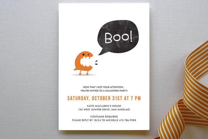 BOO! Holiday Party Invitations | as seen on www.GiggleHearts.com