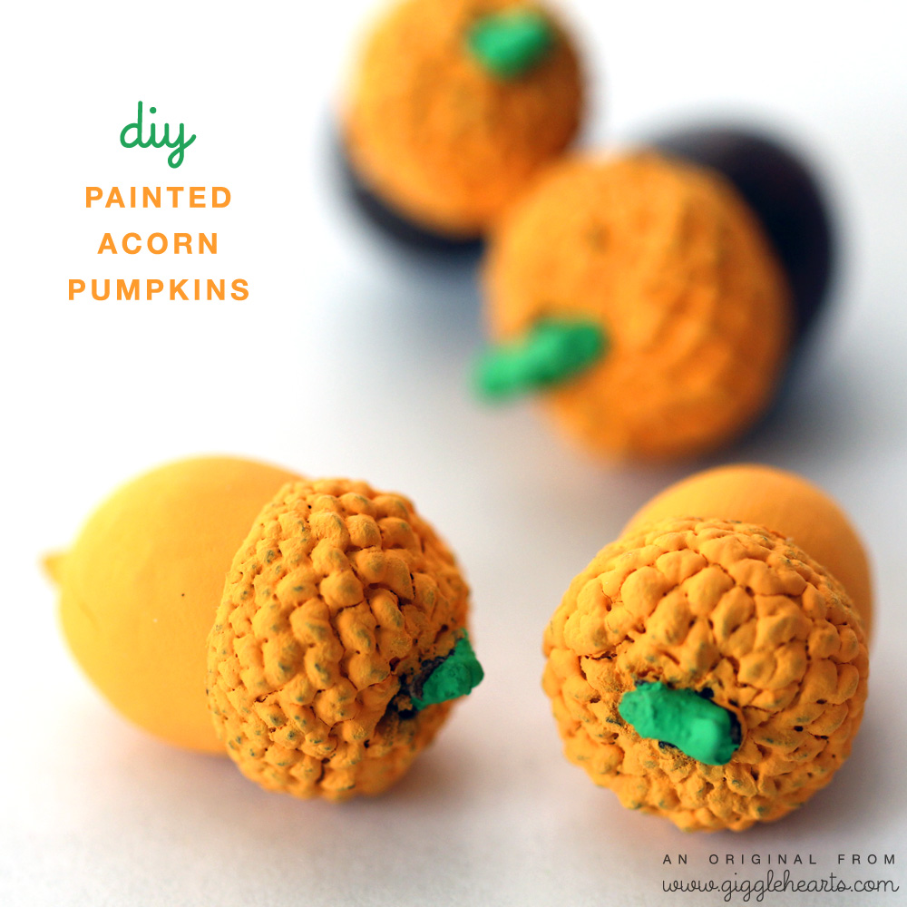 DIY Painted Acorn Pumpkins : the cutest little pumpkins for fall