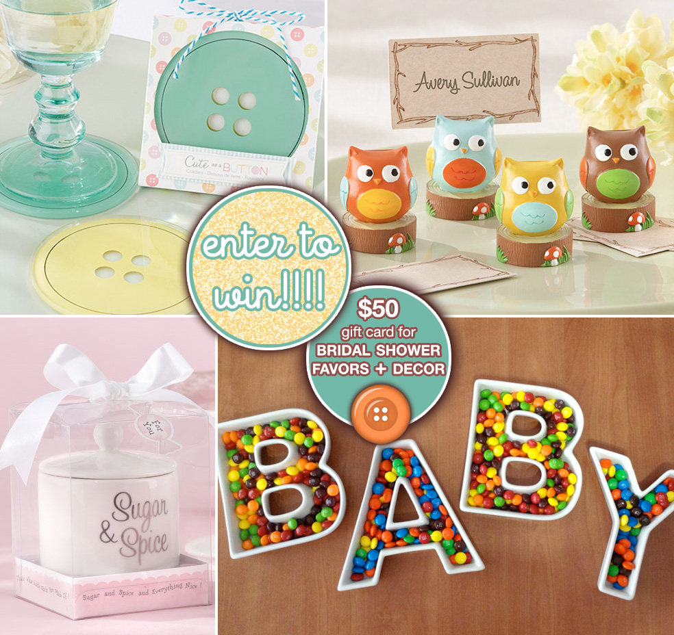 It's a Baby Giveaway - Enter to $50 towards Baby Shower Favors and Decorations on www.GiggleHearts.com
