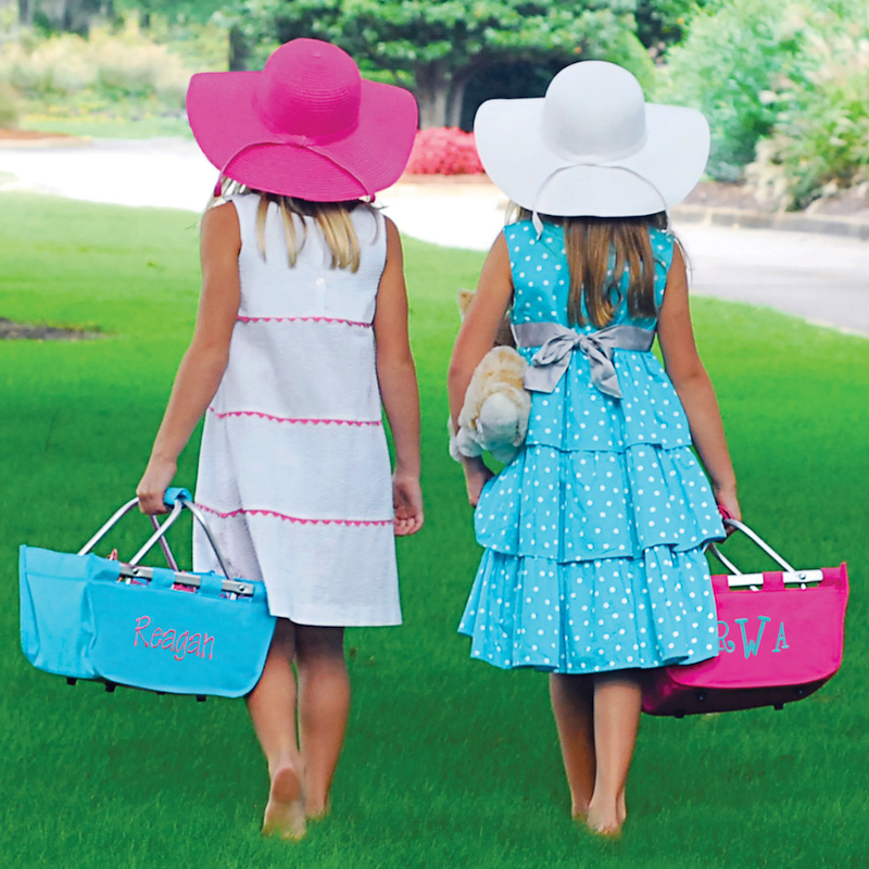 Collapsible Mini Size Market Totes from Chic Monkey Boutique / as seen on www.GiggleHearts.com