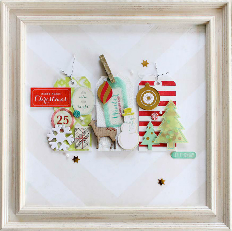 Creating a Framed Holiday Memory Keepsake  | as seen on www.GiggleHearts.com