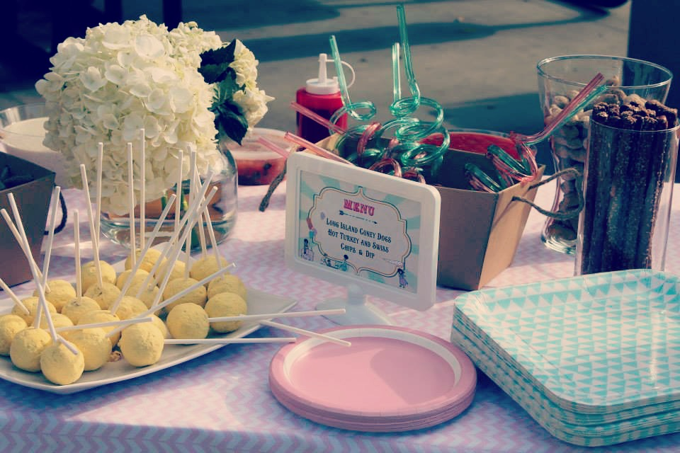 A 3rd birthday party - vintage themed with modern touches - the menu / created by EAE Personalized Creations / as seen on www.GiggleHearts.com