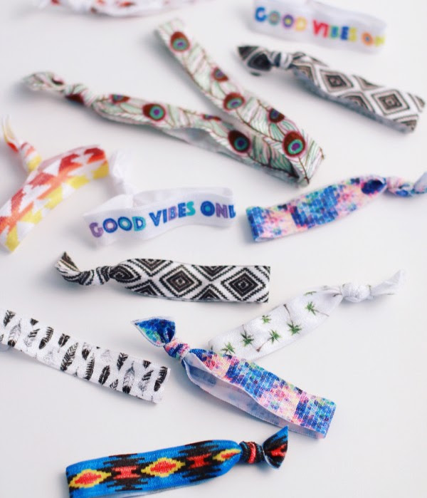 Good Vibes Hair Ties - the Festival Collection, just $5 for a set of 3