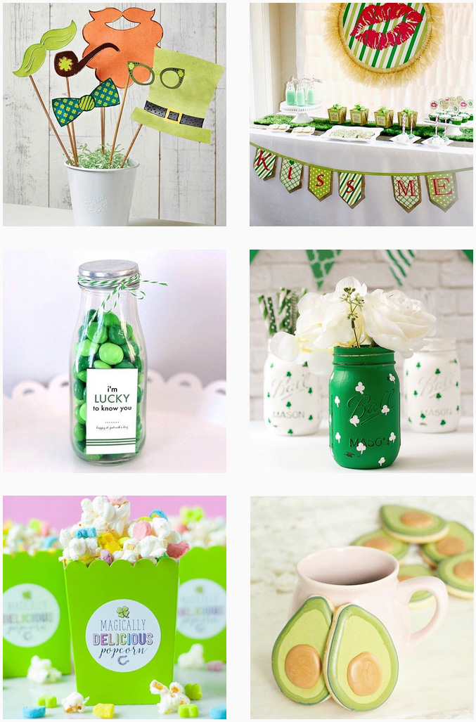 St. Patrick's Day Round Up of Green Treats, Crafts and Printables for Parties and Fun with Kids / as seen on Giggle Hearts