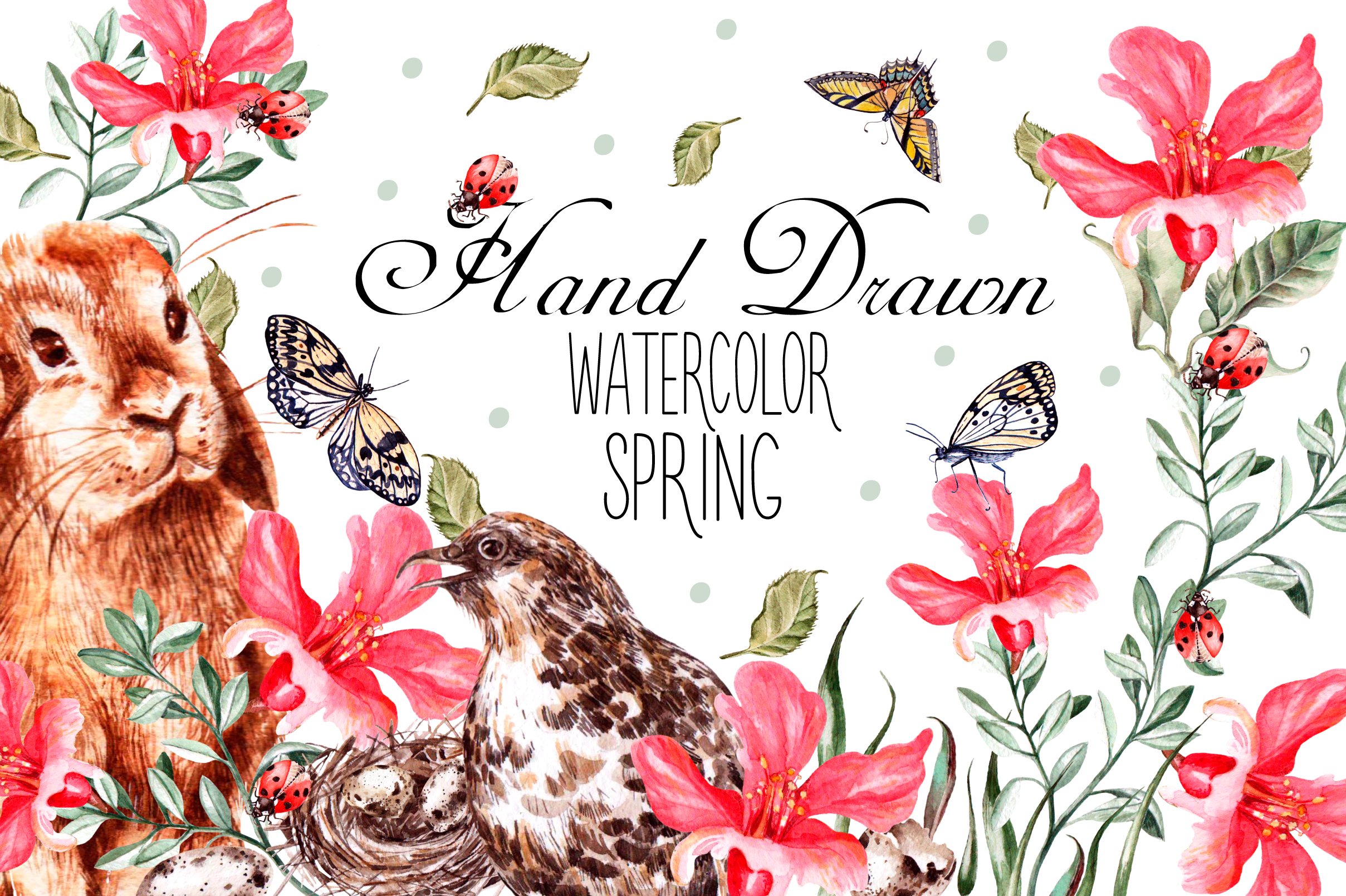 A wonderful   collection of beautiful spring elements   for your cards, patterns, invitations or anything your imagination dreams up   {buy now}