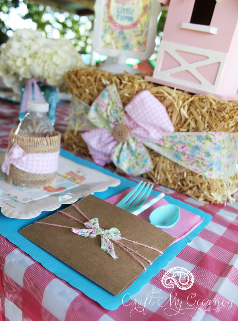 Clever DIY Utensil Pouches from the Pink Pony Birthday Party from Lynnette of Craft My Occasion - as seen in the Party Inspiration Gallery on www.GiggleHearts.com