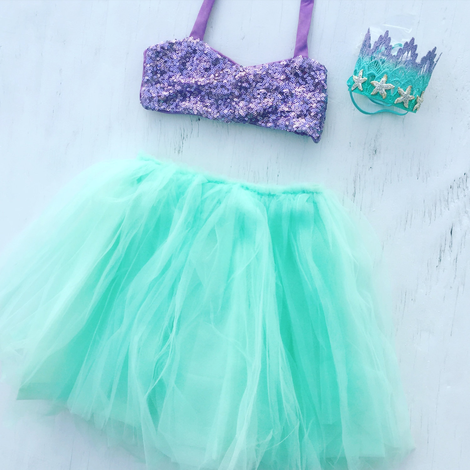 Mermaid Costume with Sequins for the Mermaid Birthday Party Girl