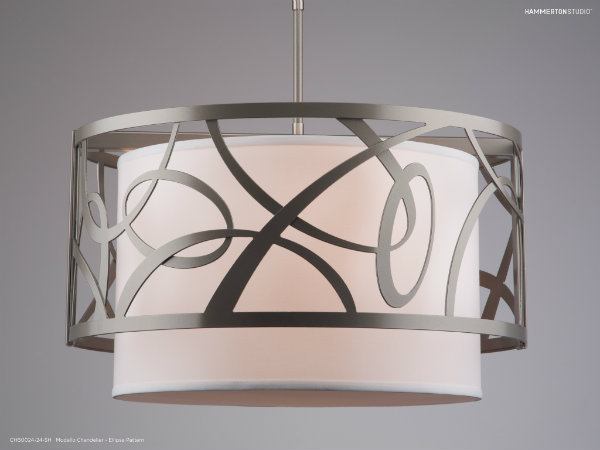 Modello Ellipse Pattern Chandelier with a flat bronze finish.