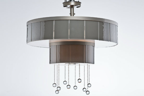 The opacity of the drums on this fixture provides a direct source of light rather than a diffused effect.