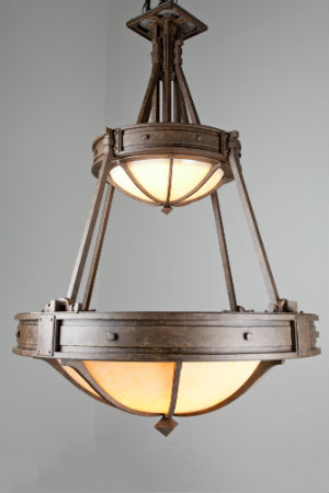 Two diffusers are better than one for this nautical-inspired dome chandelier, which offers soft, ambient overhead lighting.