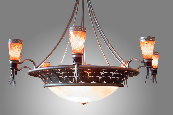 Adding additional lights around a dome not only gives this fixture a grander feel, but it also creates greater light output ideal for overhead lighting.