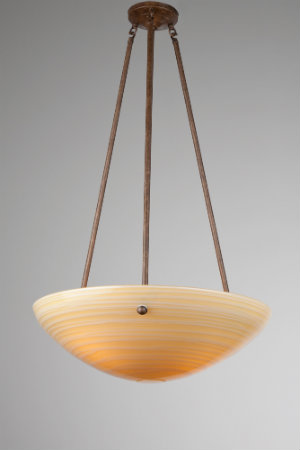 Sleek and sophisticated is the name of the game for this modern dome-style chandelier featuring a rounded glass diffuser and bronze-colored frame.