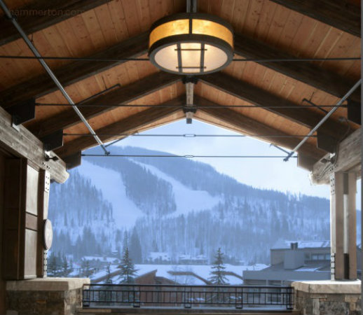 This ceiling light is able to hold up against freezing mountain temperatures during the long winter months.