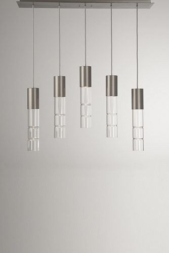 Threaded cups on Hammerton Studio Bamboo lights allow glass diffusers to easily unscrew for light bulbs change outs.