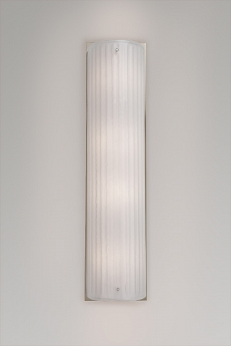 A Textured Glass cover sconce, also in Strata.