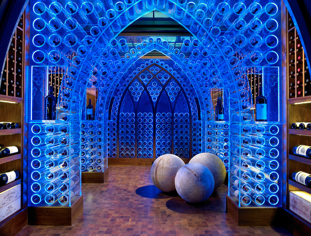 LED acrylic arches Source: Kim Sargent via Beckwith Interiors / Houzz
