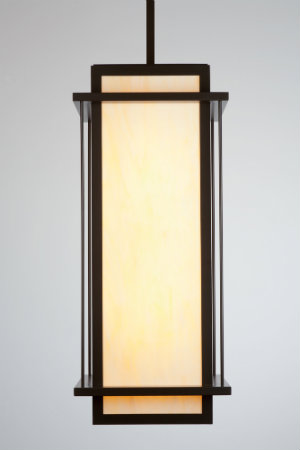 In the spirit of Frank Lloyd Wright, this sleek and strong pendant design is both cohesive and organic. The fixture embodies effortlessness and simplicity while also treating the eye to intriguing depth and dimension.