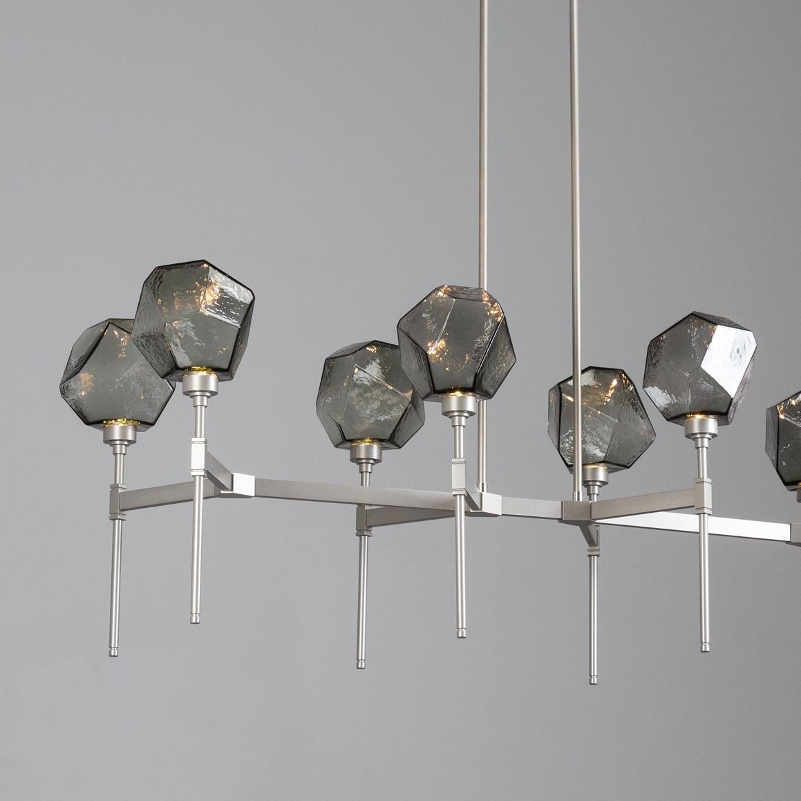 Metallic Beige Silver finish with smoke glass