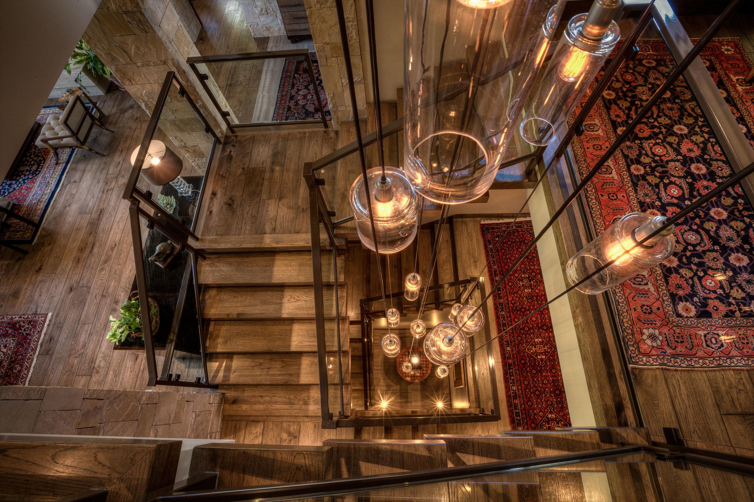 Custom Hammerton Studio Apothecary chandelier.