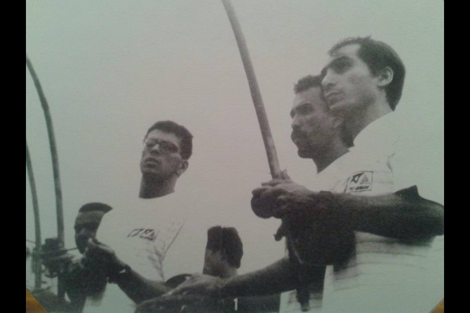 Our Founders.  From Left to Right: Mestre Boneco, Mestre Paulão and Mestre Paulinho Sabia