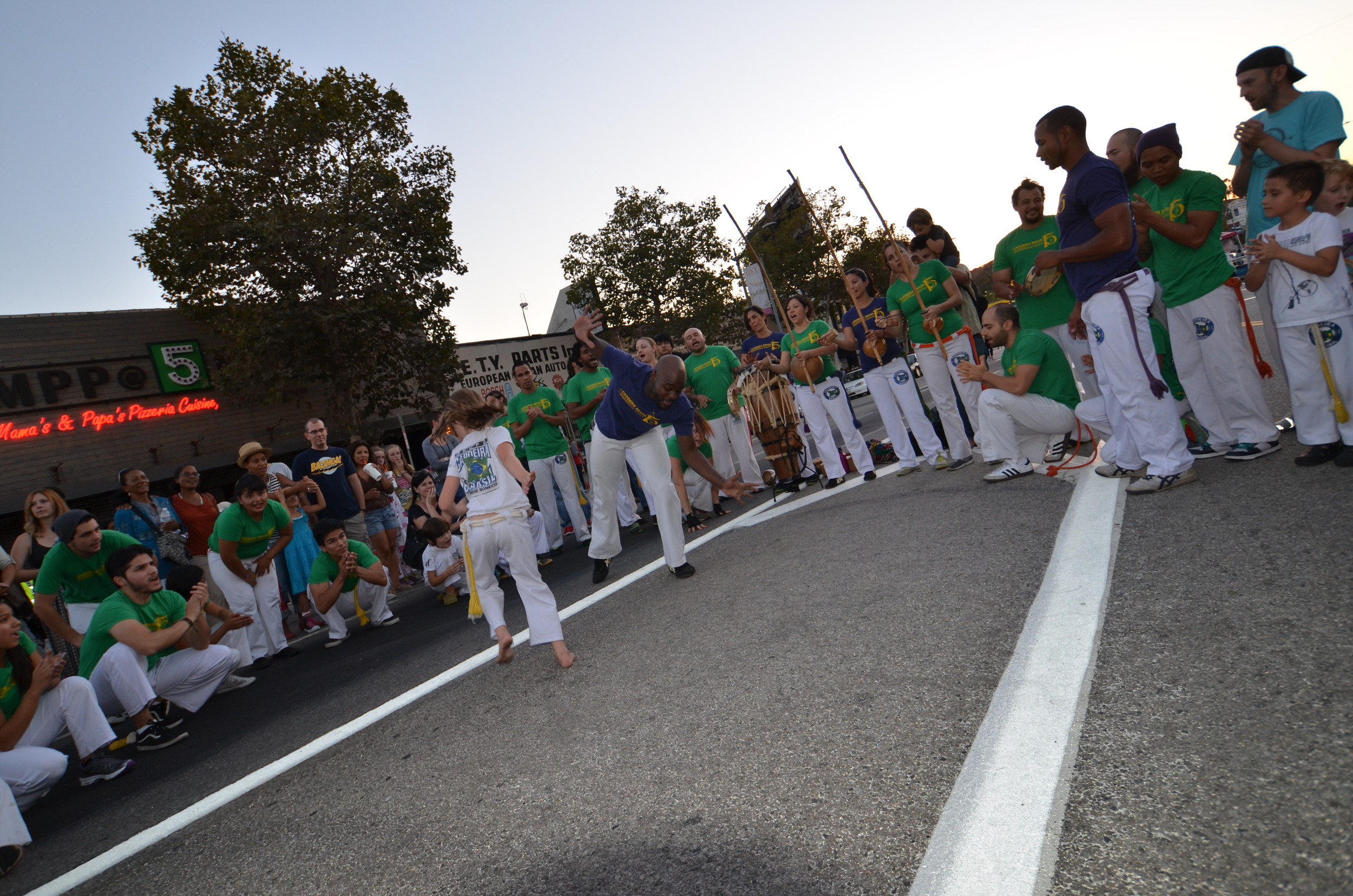 Capoeira Brasil performing at an open-air Music Festival here in Los Angeles