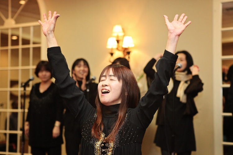 Gospel choir director Eri Endo