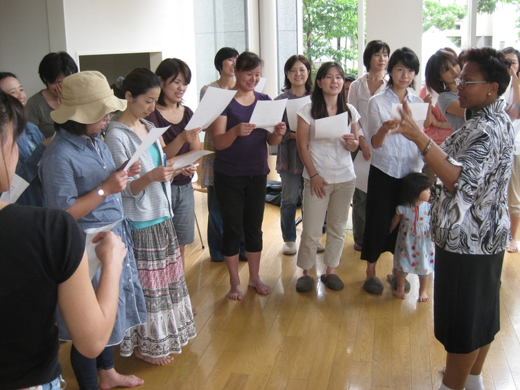 Gospel workshop with visiting international guest in Tsukishima