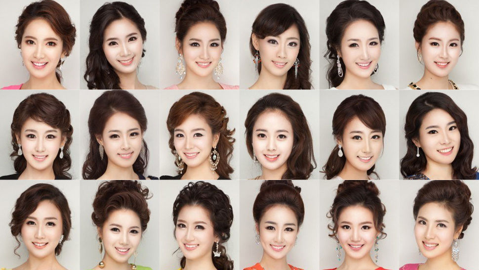 The contestants from 2013's Miss Korea pageant.