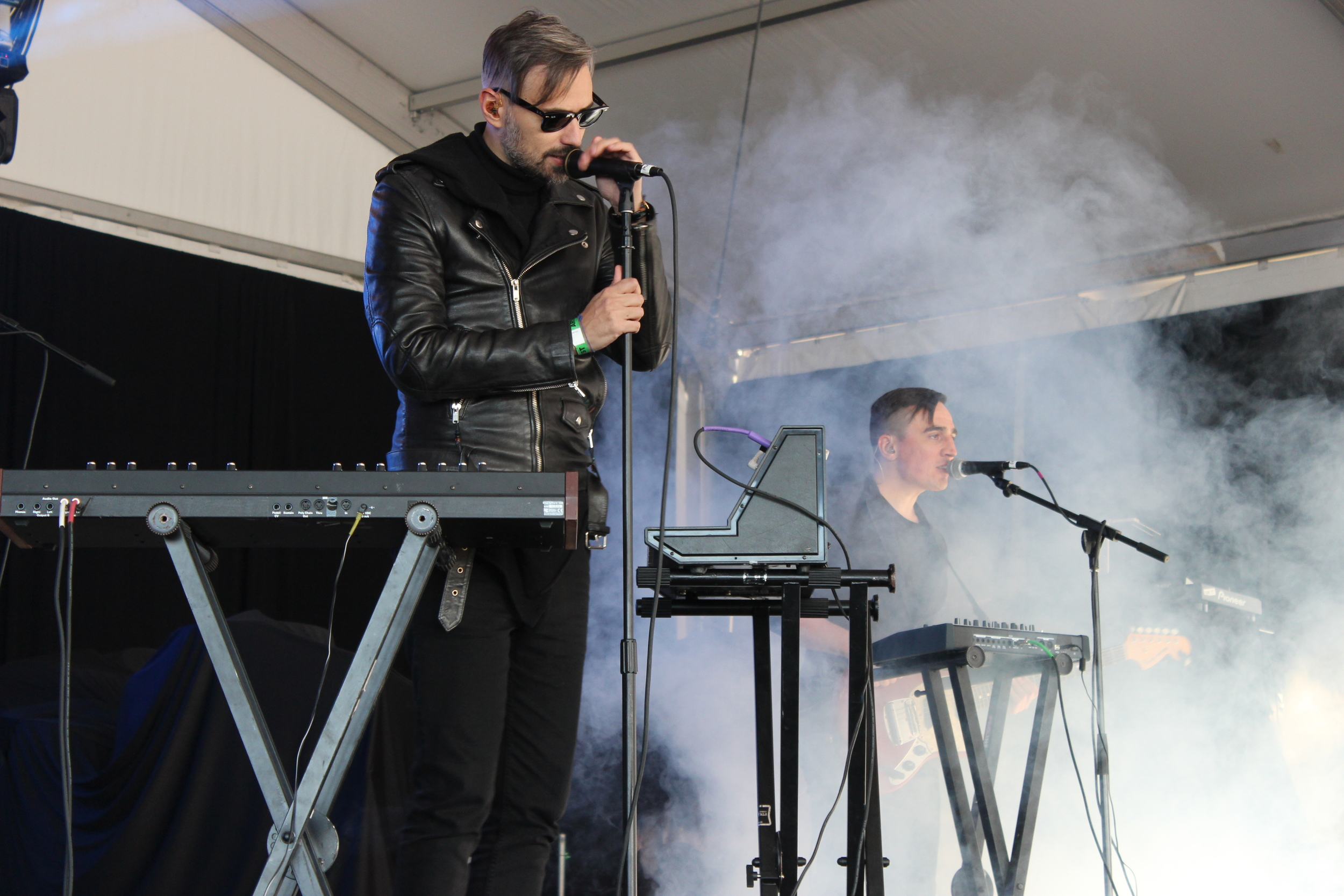 """Tesla Boy performing some catchy tunes from their album """"The Universe Made of Darkness"""" on the My Life Stage."""