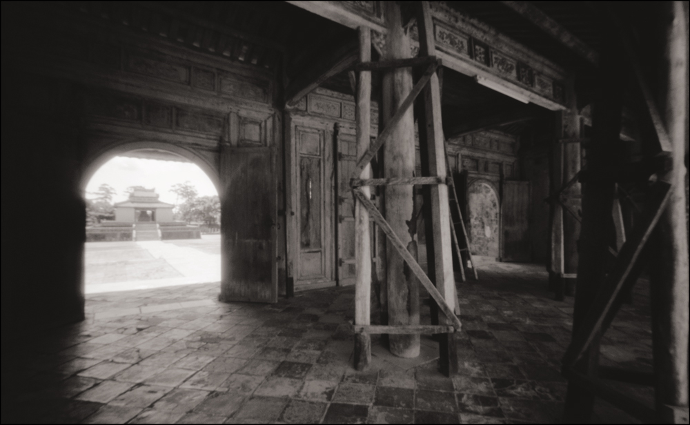 Entrance to Minh Mang Tomb, Hue . Pinhole Image © 2007.