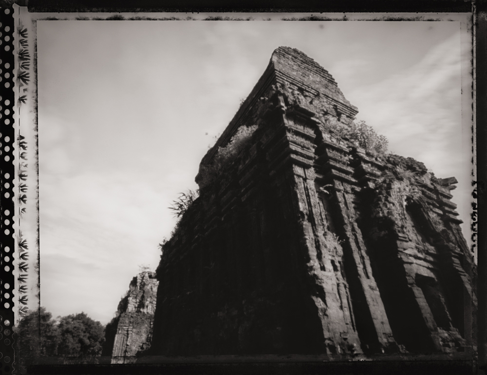 Temple at My Son Ruins ,  UNESCO World Heritage Site . Pinhole Image © 2007.