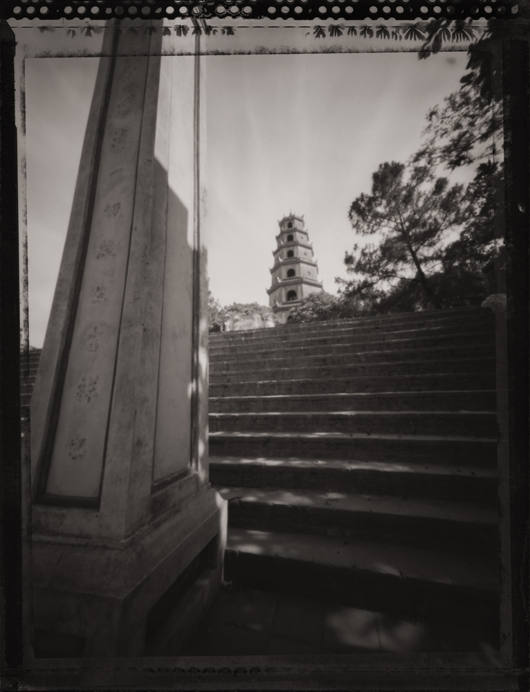 Thien Mu Pagoda along the Perfume River, Hue . Pinhole Image © 2007.