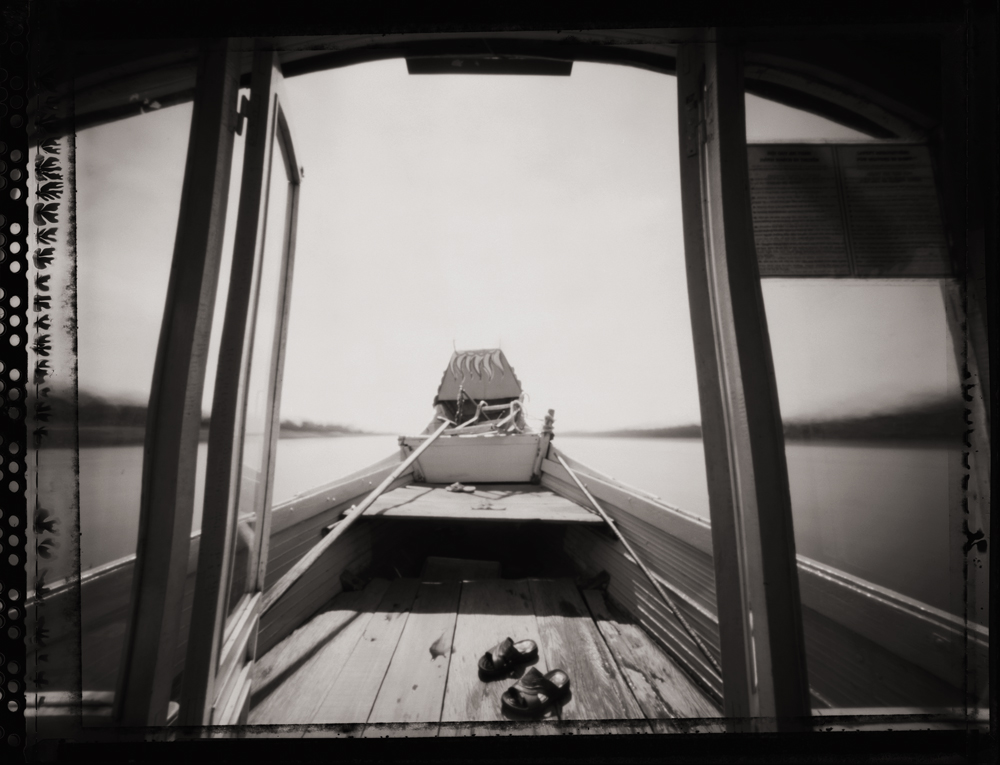 Dragon Boat on the Perfume River, Hue . Pinhole Image © 2007.
