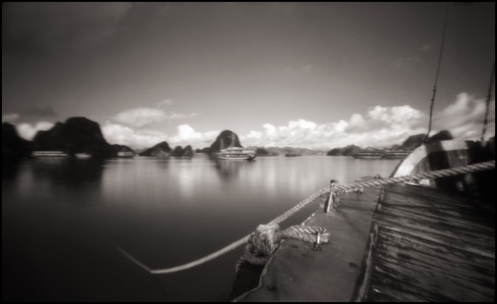 Anchored at Halong Bay ,  UNESCO World Heritage Site . Pinhole Image © 2007.