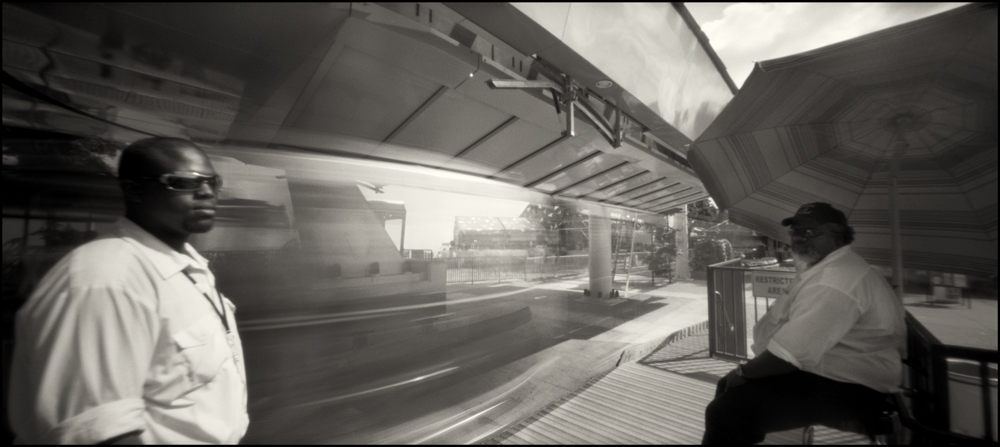 Ira, Texas Skyway Landing . Panoramic Pinhole Image © 2008.