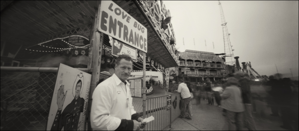 Carny, Love Bug . Panoramic Pinhole Image © 2009.
