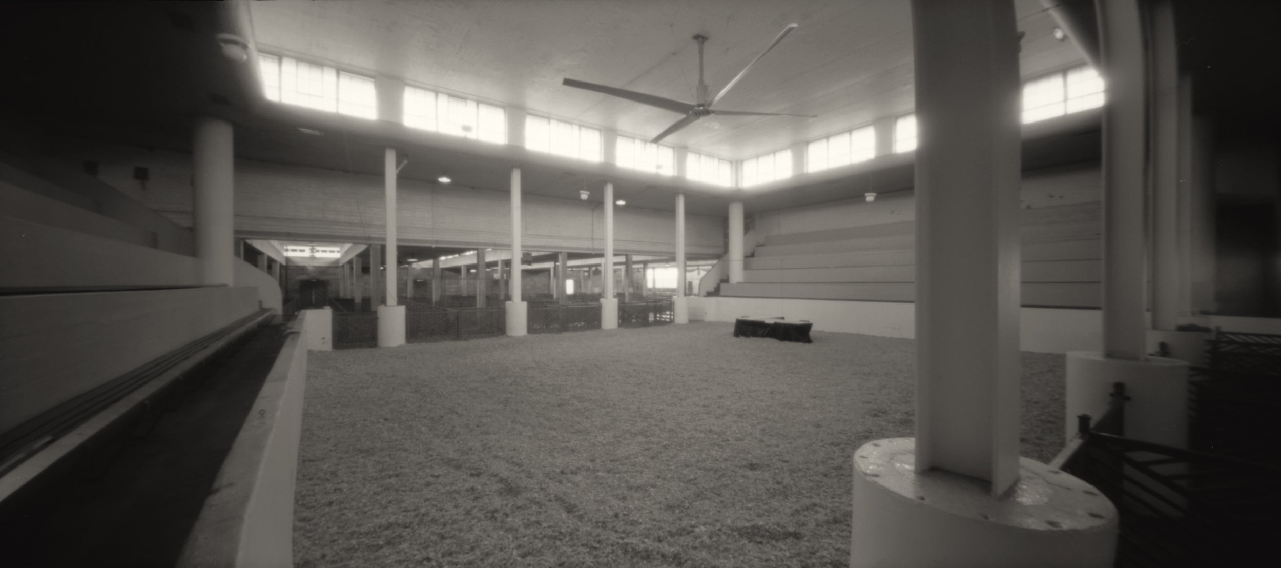 Stockyard Exhibition Building.  Pinhole Image © 2010.