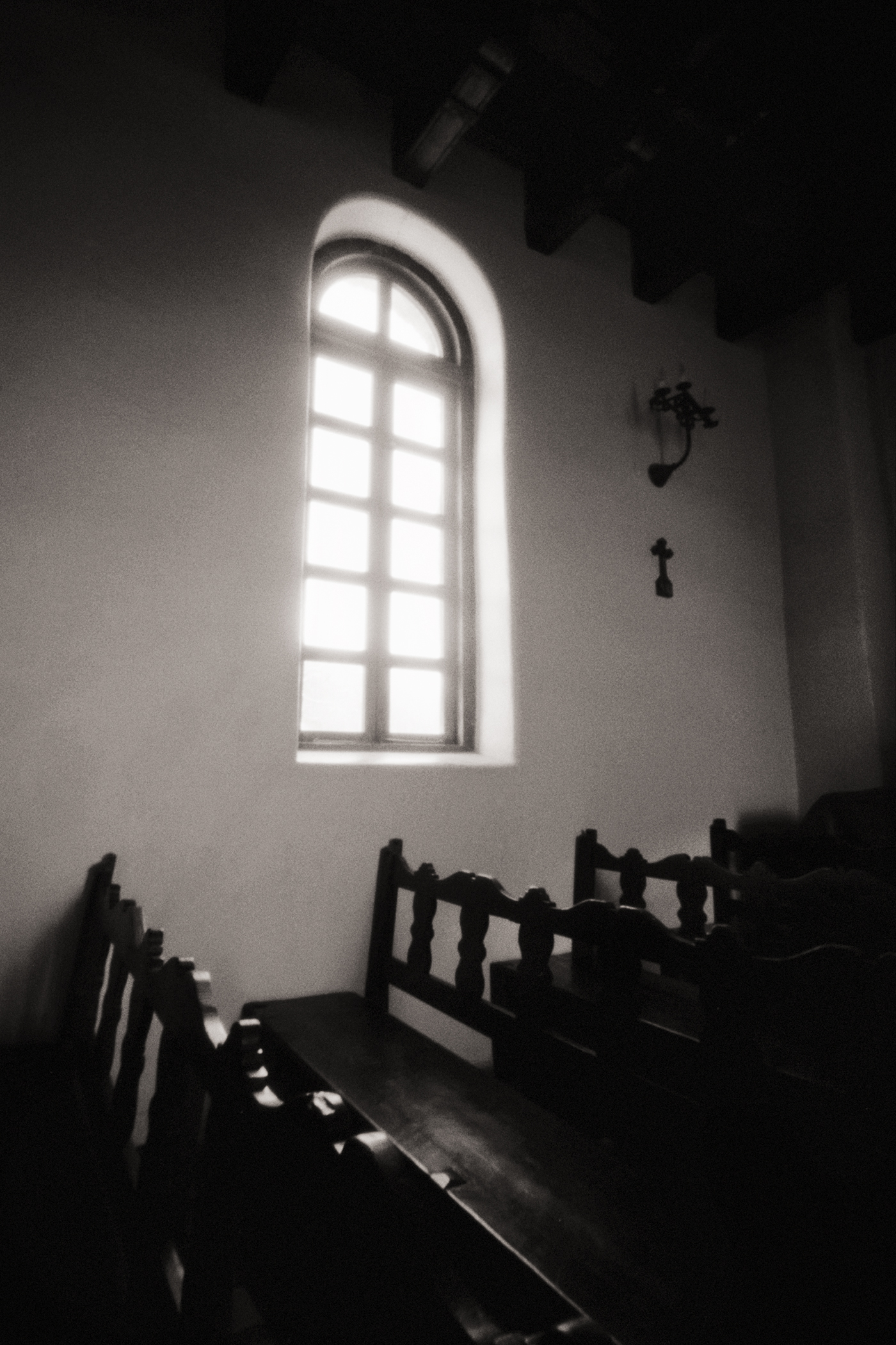 Window and Pews, Mission San Francisco de la Espada