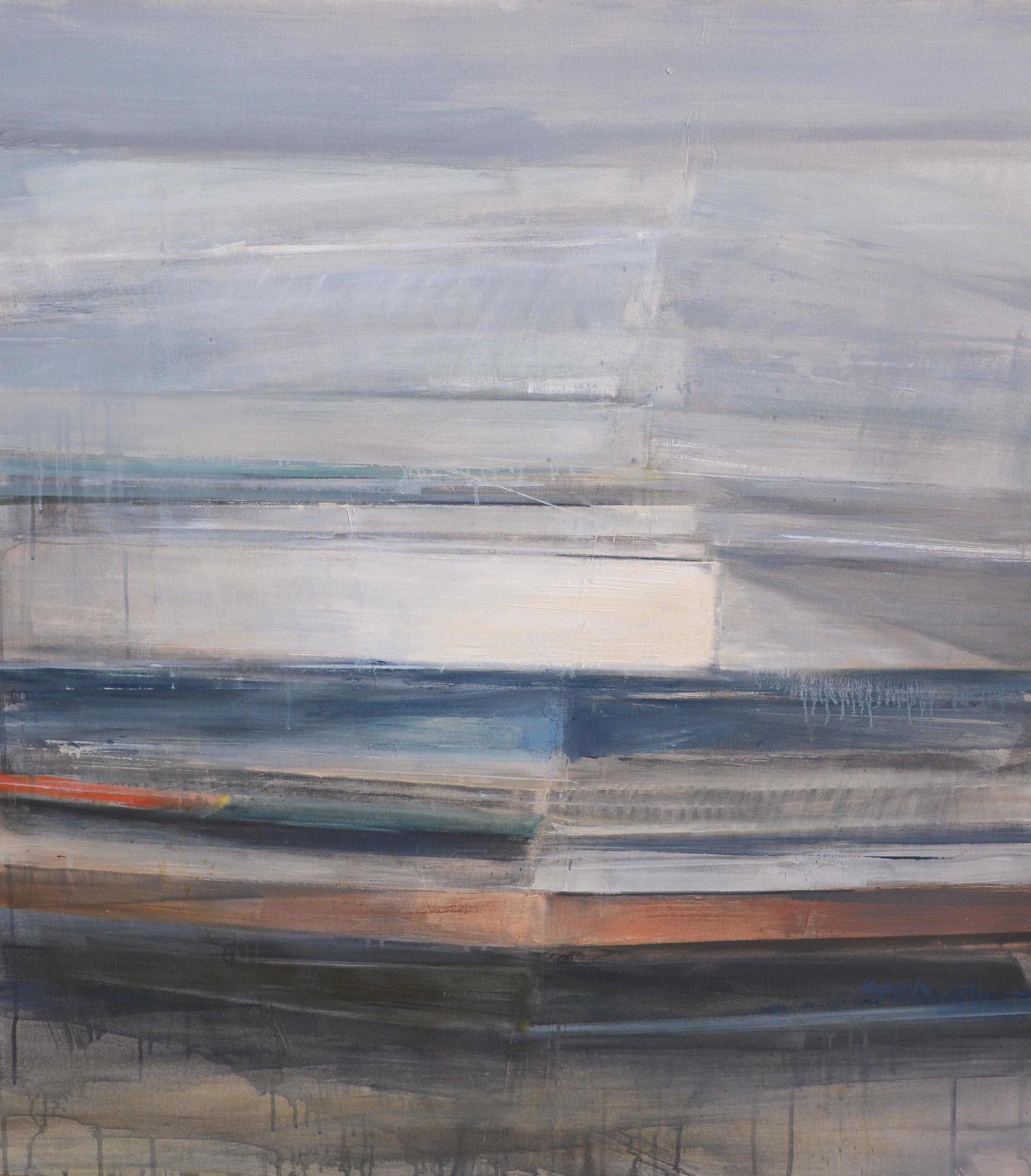 """Monolith II   oil on canvas  45 x 40""""   2015"""