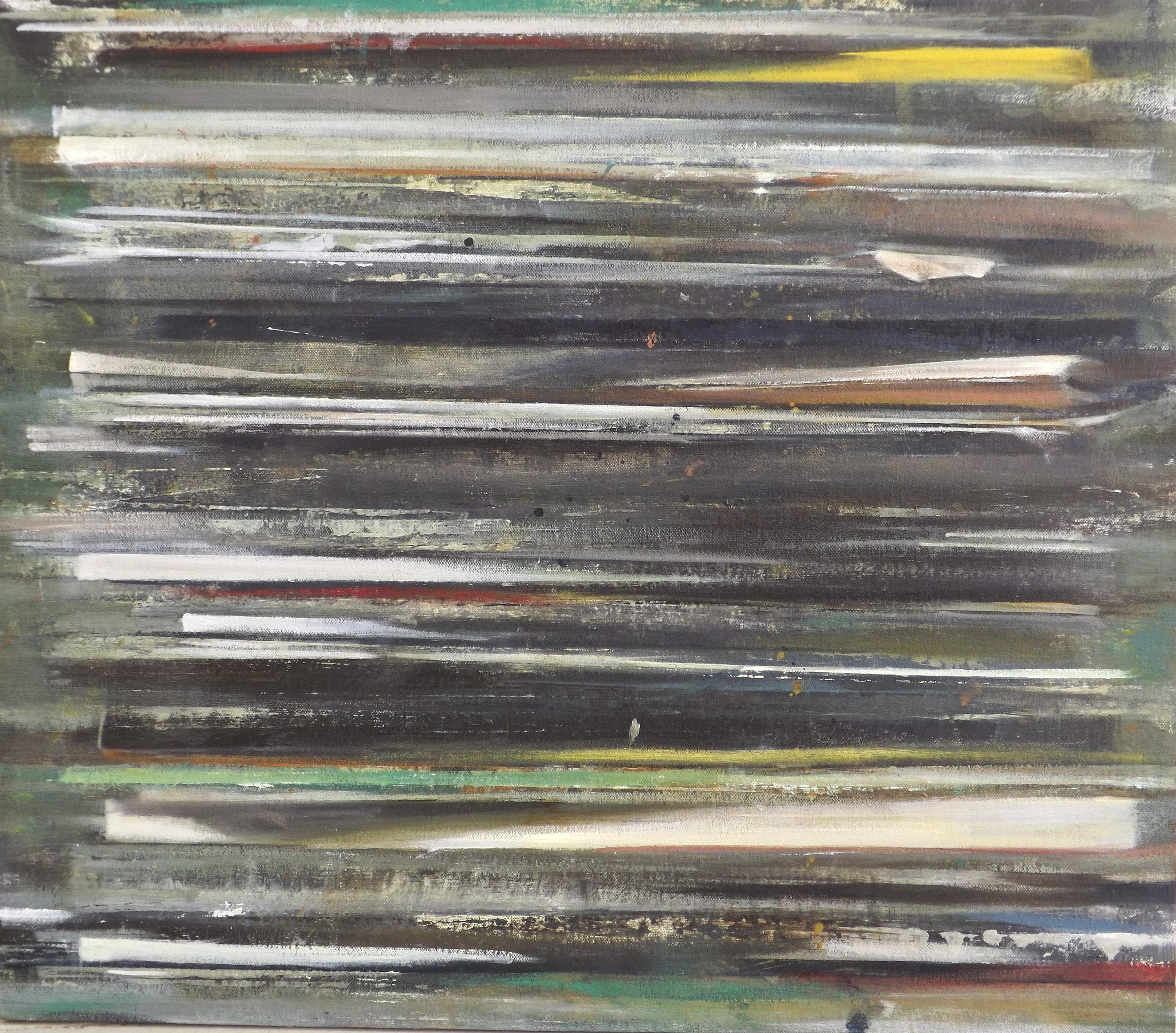 "The Atlantic   oil on canvas  21 x 24""  2013"