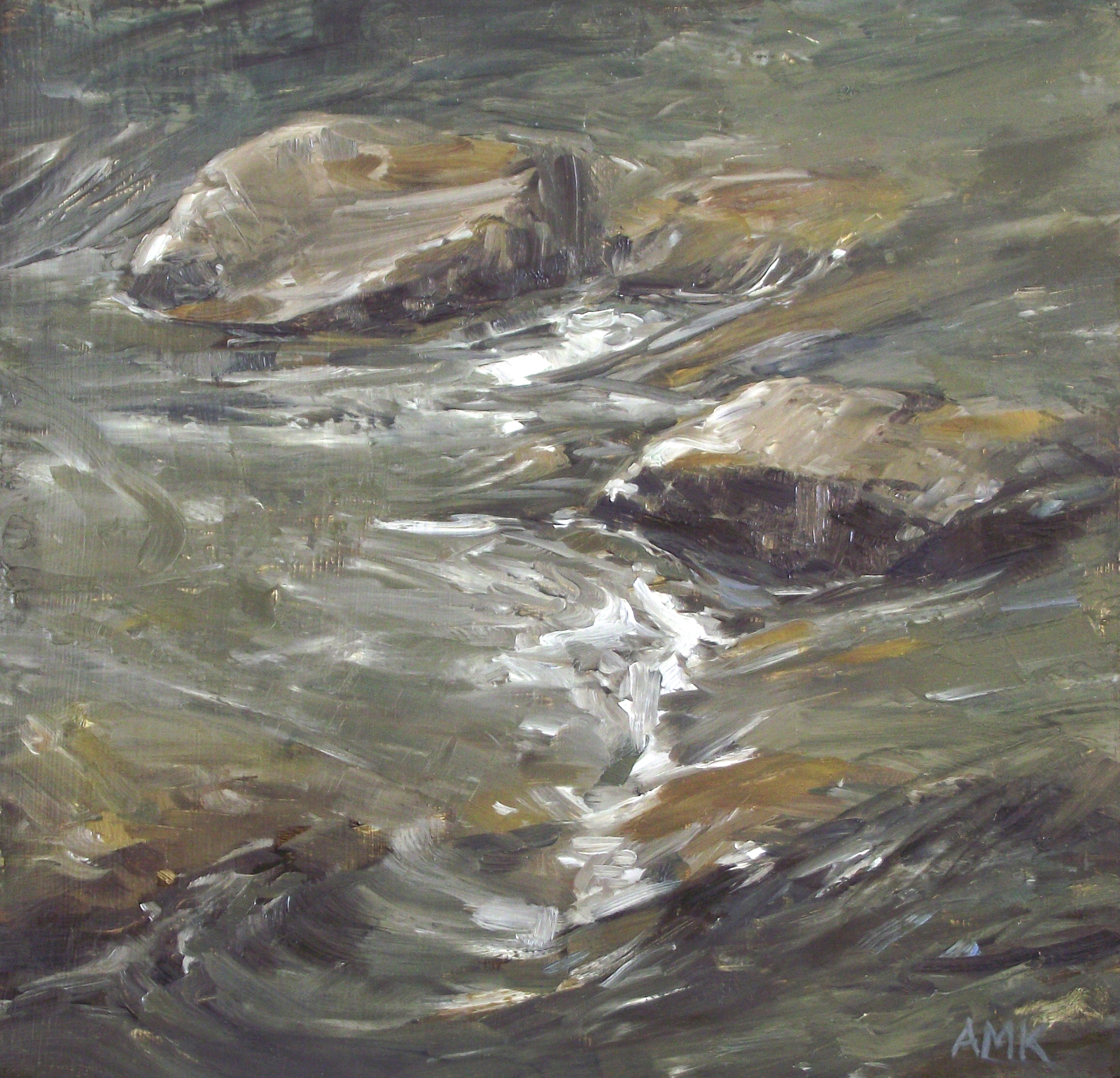 "Seam   oil on panel  7 x 6.75""  2013"