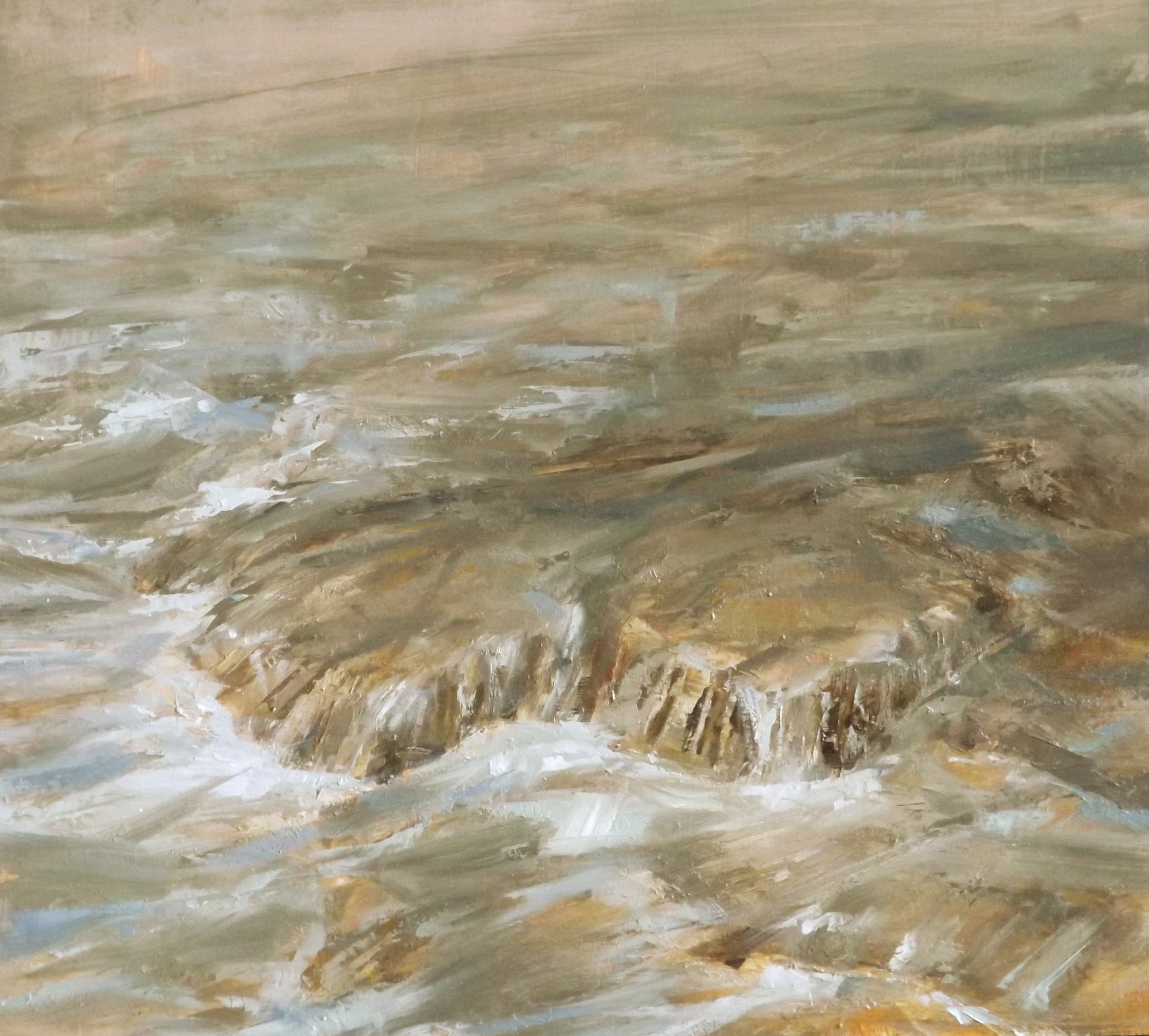 """Runoff   oil on panel  9 x 10""""  2013"""
