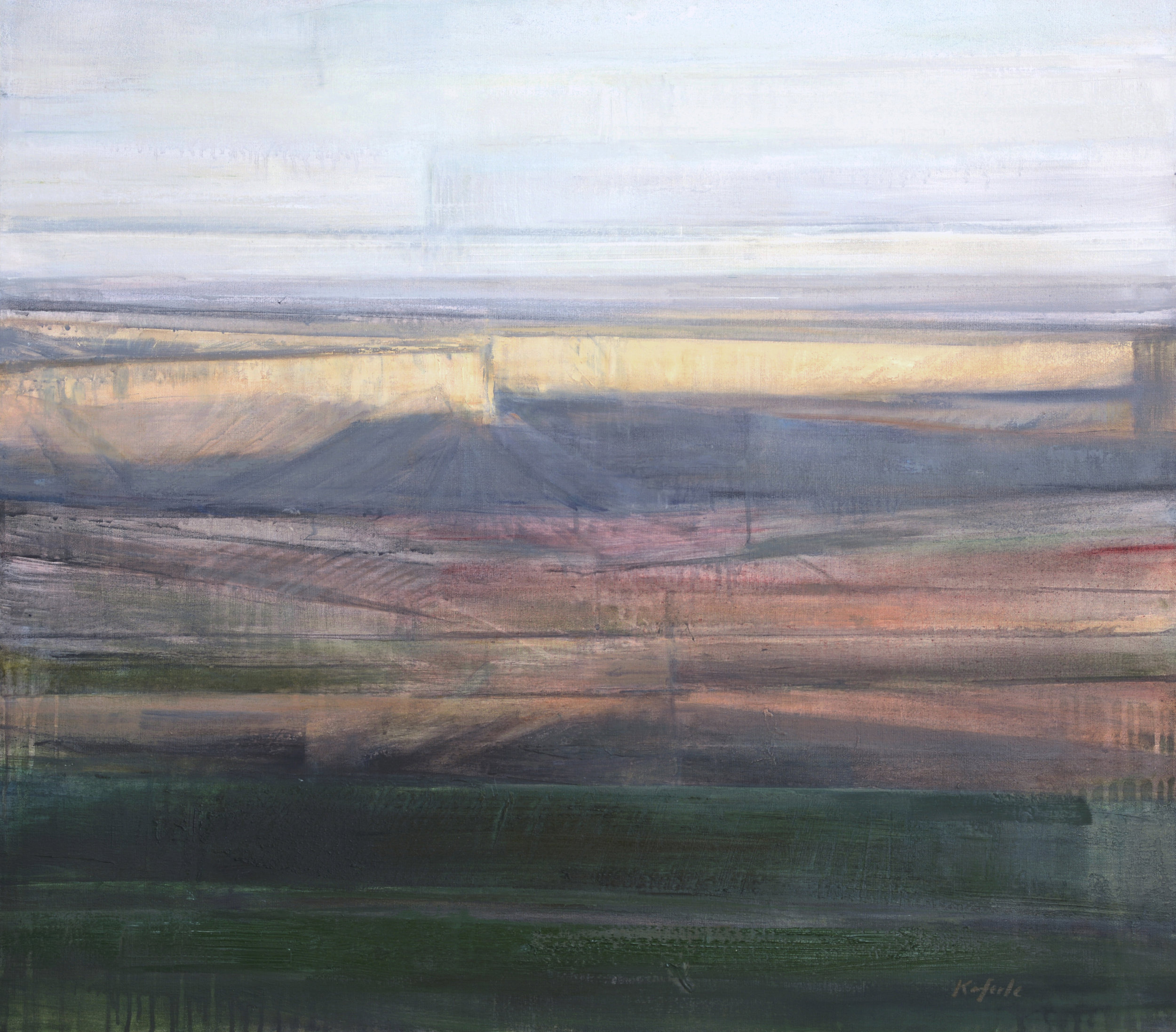 "Tourmaline   oil on canvas  32 x 36""  2016"