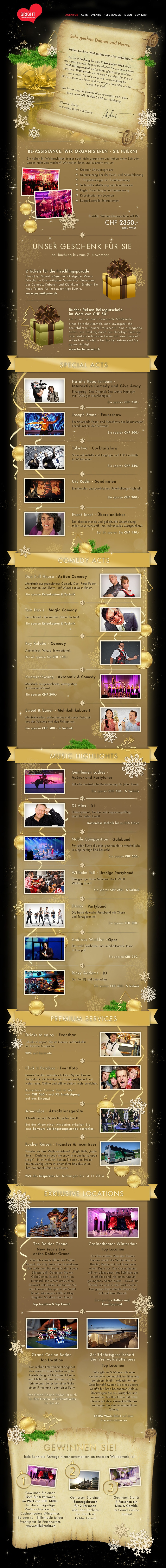 Last Minute XMas special Bright Entertainment