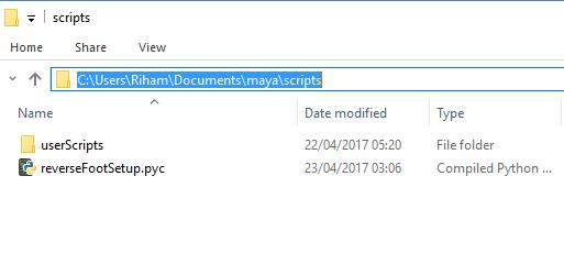 Example of a installation folder