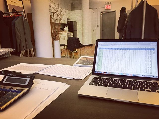 Spreadsheets, vendors, style categories and sales projections; it might not look it, but this is actually really fun stuff! . . . . #fashion #fashiondesigner #brand #building #gettingitdone #lifestyle #work #fun #like4like #followforfollow