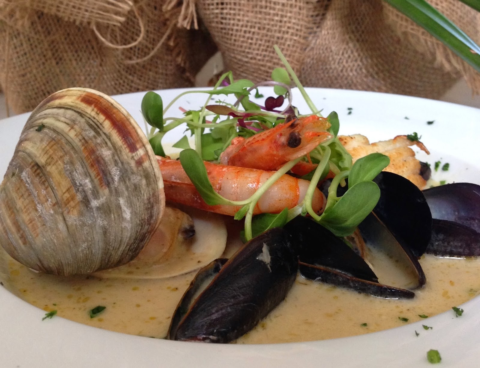 Green Curry Bouillabaise using  local and fresh seafood