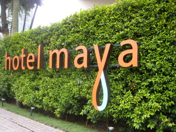 Lush welcoming at the Hotel Maya