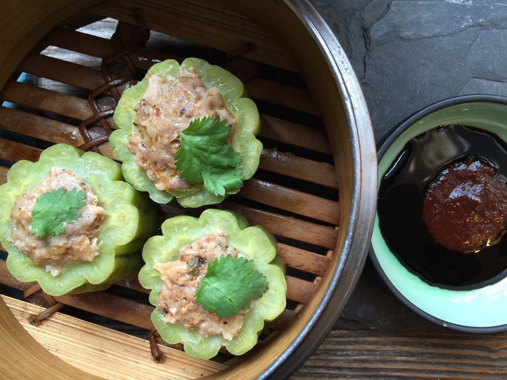 Stuffed with chopped pork and spicy lemongrass paste