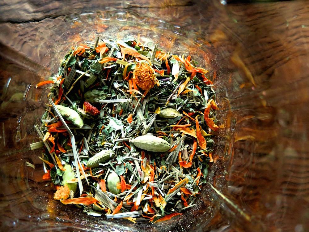 Great for iced tea- Lemon-Aid  (lemongrass, cardamom and spearmint)